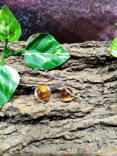 Boucles d'oreilles Perles d'Ambre et Argent 925 Joie et Bonheur