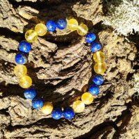 Bracelet étude perles 8mm Sodalite et Citrine