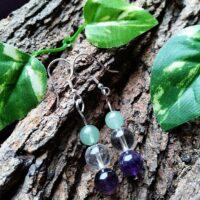 Boucles d'oreilles Détende en Perles