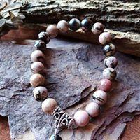 Bracelet  Rhodonite perles de 8mm