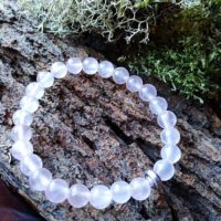 Bracelet  Enfants Quartz rose perles de 6 mm