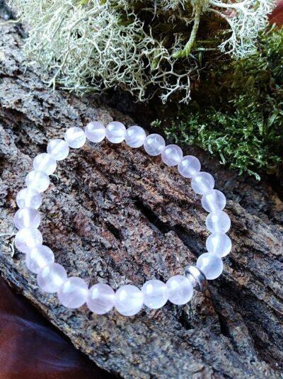 Bracelet  Enfants Quartz rose perles de 6 mm