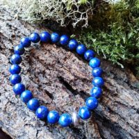 Bracelet  Lapis-Lazuli en perles de 8 mm