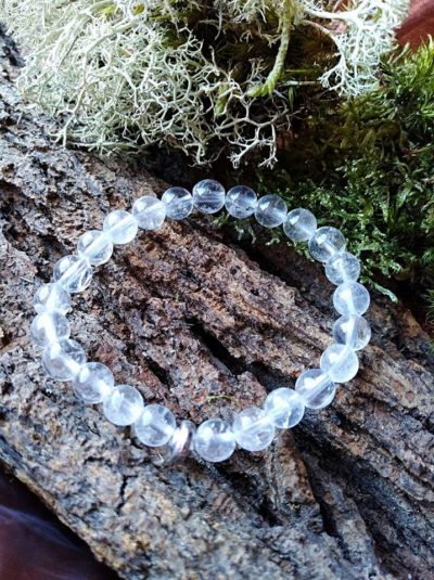 Bracelet  Enfants Cristal de Roche perles de 6 mm Pierre universelle