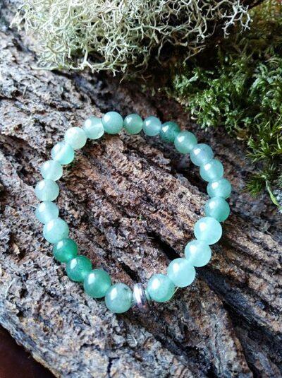 Bracelet  Enfants Aventurine Verte perles de 6 mm Anti-stress et Détende