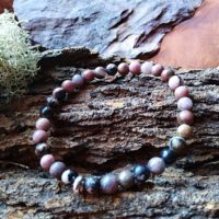 Bracelet  Rhodonite perles de 6 mm
