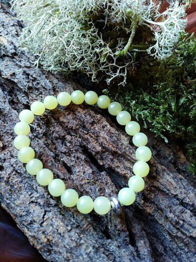 Bracelet  Enfants Péridot perles de 6 mm