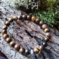 Bracelet  Enfants Oeil de tigre perles de 6 mm