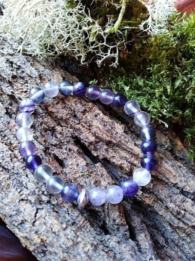 Bracelet  Enfants Fluorite perles de 6 mm