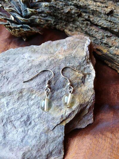 Boucles d'oreilles perles en Citrine Optimisme et joie de vivre