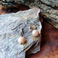 Boucles d'oreilles perles en Pierre du Soleil Énergie