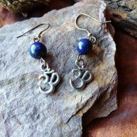 Boucles d'oreilles Om et Lapis-Lazuli Sagesse