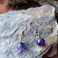 Boucles d'oreilles perles en Améthyste Intuition et Sérénité