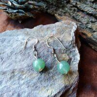 Boucles d'oreilles perles en Aventurine Verte Anti-stress et Apaisement