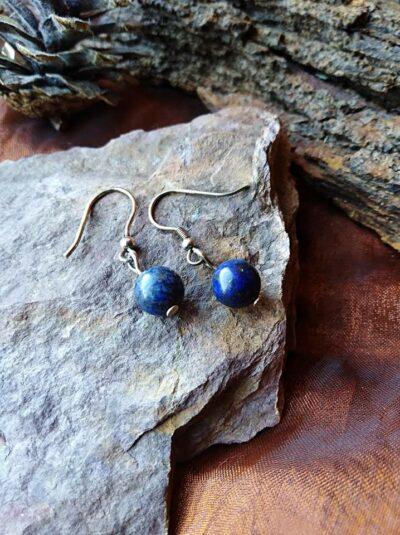 Boucles d'oreilles perles en Lapis-Lazuli Sagesse