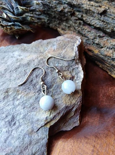 Boucles d'oreilles perles en Aigue Marine Détente et Expression