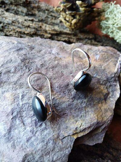 Boucles d'oreilles en Onyx Noir Réalité et protection