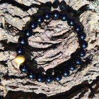 Bracelet Tourmaline Noire Perles 8mm Protection