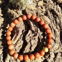 Bracelet  Jaspe rouge perles de 8 mm