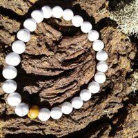 Bracelet  Howlite Perles de  8mm Nouveau départ