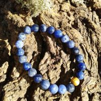 Bracelet  Sodalite perles de 8 mm