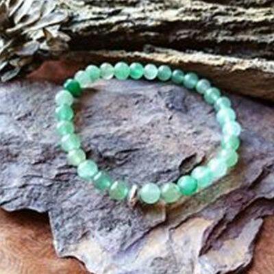 Bracelet Aventurine Verte perles 6mm Anti-stress et Apaisement