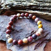 Bracelet Mookaïte Perles de  8mm Énergie et dynamisme