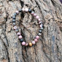 Bracelet  Rhodonite perles de 6 mm