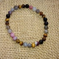 Bracelet de Protection en perles de 6 mm – Labradorite, oeil de tigre