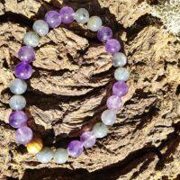 Bracelet Intuition en perles de 8 mm – Labradorite et Améthyste