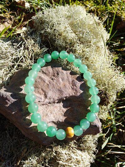Bracelet Aventurine Verte perles de 8 mm Anti-Stress