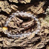 Bracelet Cristal de Roche perles de 8 mm Clarté mental