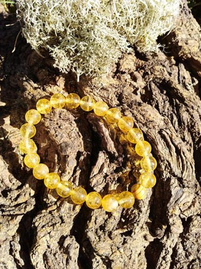 Bracelet Citrine perles de 8 mm Joie de Vivre