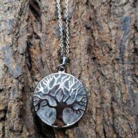 Pendentif arbre de vie en Cristal de Roche