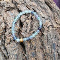 Bracelet Fluorite perles de 6 mm