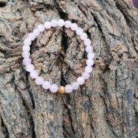 Bracelet Quartz Rose Perles de 6mm Apaisement, sérénité