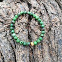 Bracelet Rubis sur Zoïzite perles de 6 mm