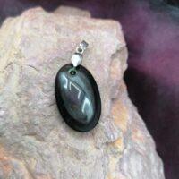 Pendentif Obsidienne Oeil Céleste – Argent 925