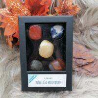 Coffret de pierres roulées – Vitalité & Motivation
