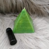 Bougie Pyramide Verte à Souhaits