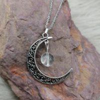 """Pendentif """"Pouvoir de Lune"""" – Cristal de Roche"""