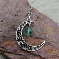 "Pendentif ""Pouvoir de Lune"" – Fluorite"