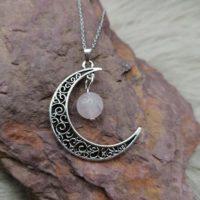 """Pendentif """"Pouvoir de Lune"""" – Quartz Rose"""