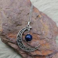 """Pendentif """"Pouvoir de Lune"""" – Lapis-Lazuli"""