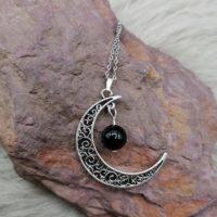 """Pendentif """"Pouvoir de Lune"""" – Tourmaline noire"""