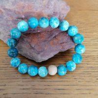 Bracelet en Apatite – 10 mm