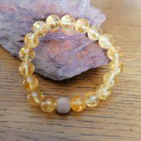 Bracelet en Citrine – 10 mm