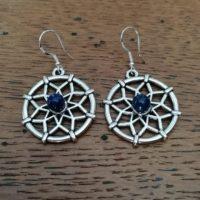 Boucles d'oreilles Mandala en Lapis-Lazuli