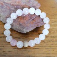 Bracelet Quartz Rose – 10 mm
