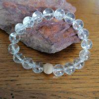 Bracelet en Cristal de Roche – 10 mm